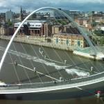 Поворотный мост на севере Англии