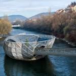 Murinsel – мост-остров, Грац Австрия
