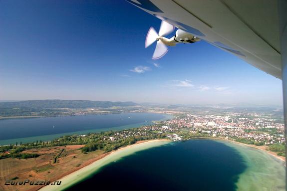 полет на дирижабле над озером Бодензее