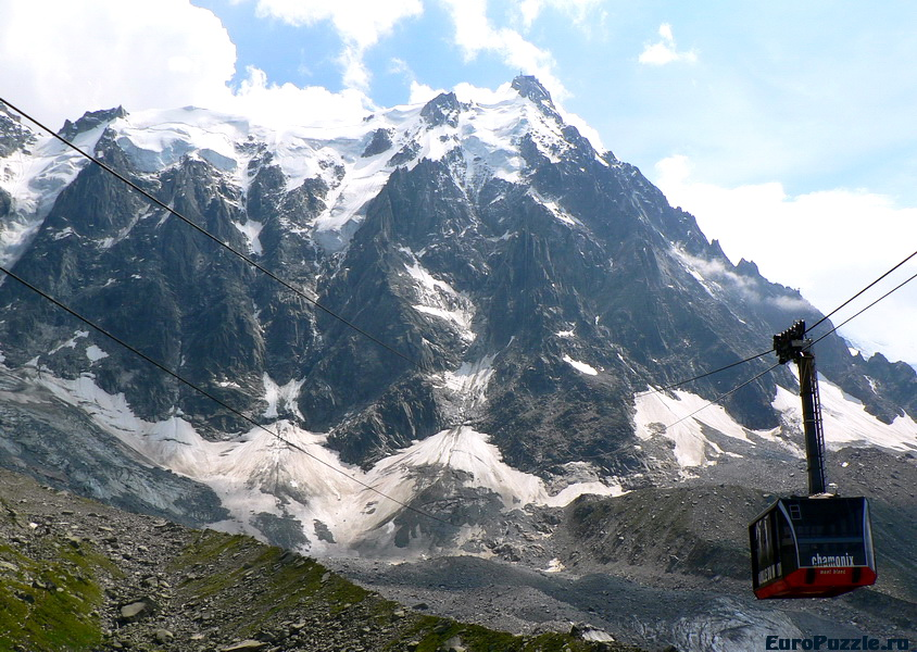 Aiguille du Midi - пик с видом на гору Монблан