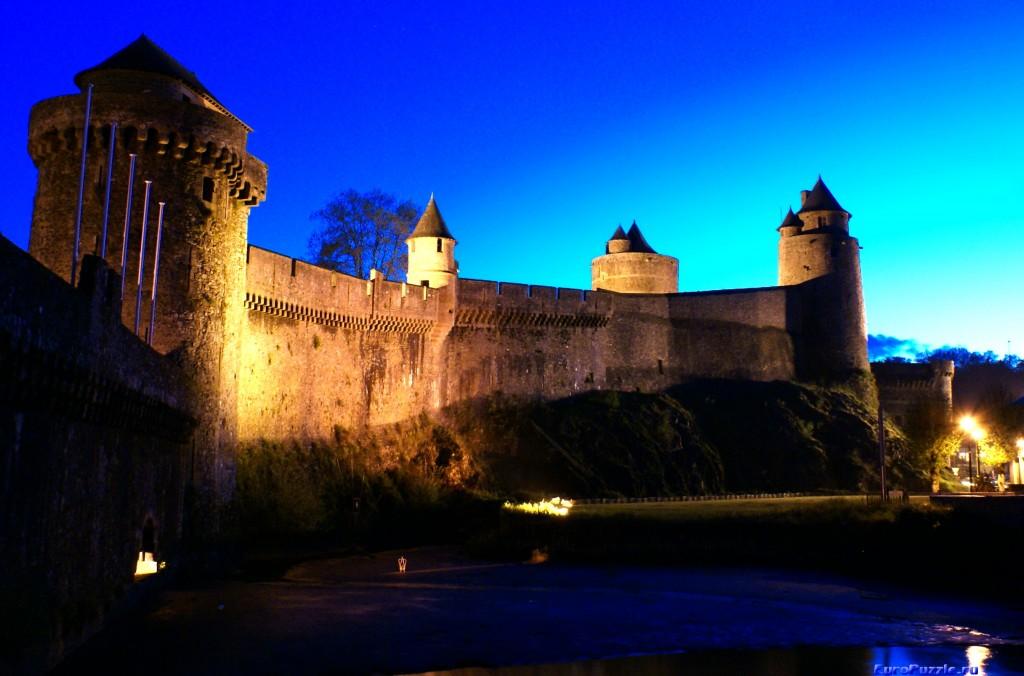 Фужер - замок папоротников