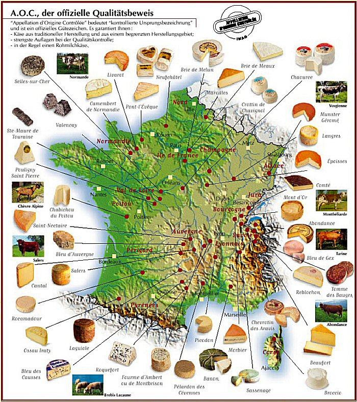 Знаменитые французские сыры