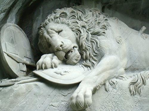 Умирающий лев, Люцерн